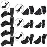 ALPIDEX Pacchetto Risparmio con 20 Pezzi / 10 Paio di Pad in 4 Diverse Forme per Nordic Walking - Gommini per Asfalto e Roccia