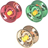 Shop & Shoppee Fine Quality High Gloss High Speed Metal YoYo Spinner Toy (3 Pcs) (Color May Vary)
