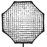 Phot-R 120 cm Large Professional Photography Universal Octagon Fabric Honeycomb Soft Egg Crate Grid Photo Studio Flash Softbox - Black