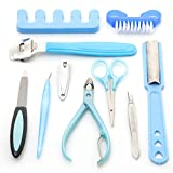 Foolzy Manicure Pedicure Set kit with 10...