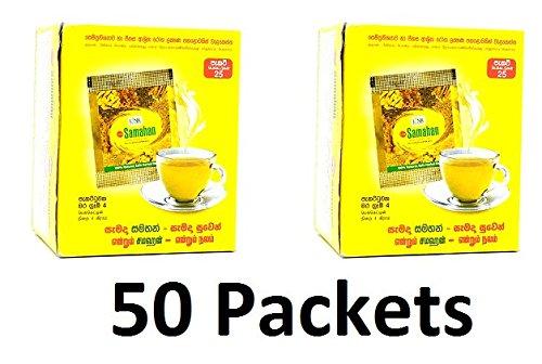 Samahan Ayurvedischer Ceylon Kräutertee, Naturgetränk, 50 Beutel., Textil, Light Brown., 50 X Packets Samahan