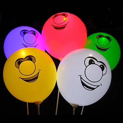 illoom Light up Balloons Pack of 5 Faces