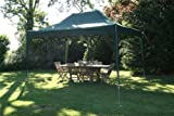 Airwave 4.5mtr x 3mtr Green Pop Up Gazebo, FULLY WATERPROOF, with Four Side Panels, Integral Windbar and Carry Bag