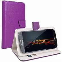"""CLE DE TOUS - Verde Cuero Funda Carcasa Case Universal con Soporte Cierre Magnetico para Moviles de 4,5"""" 4,6"""" 4,7"""" 4,8"""" 4,9"""" 5,0"""" pulgadas para SWEES 5"""" Smartphone, Doogee Voyager2 DG310 5"""", Star Note 3 N8000 5.5"""", 5"""" THL T6S MTK6582M, 5.0"""" FWVGA, Haipai S5 5.0"""", Doogee DG330 MTK6582, Cubot S208 S308, Cubot S168 S200 X6, Cubot P7/P10/Bobby 5.0"""", LANDVO L200 L200G, Lenovo S860/LG G3, 5"""" Doogee Turbo DG2014, ARCHOS 50 NEON / Titanium / Helium"""