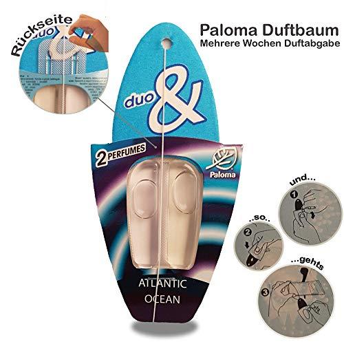Paloma Wunderbaum Duftbaum Lufterfrischer Wunder-Baum Autoduft Verschiedene Düfte NEU (Atlantic & Ocean, 1er Set)