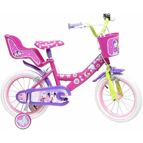 Disney - Bicicleta con ruedines y asiento para muñecas