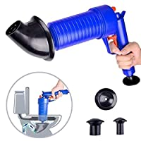 WJGJ Toilet Plunger,High Pressure Powerful Drain Clog Remover Sink Plunger Opener Cleaner Pump, Toilet Plunger Pressure Pump Cleaner, For Bath Toilets, Bathroom, Shower, Kitchen Clogged Pipe Bathtub