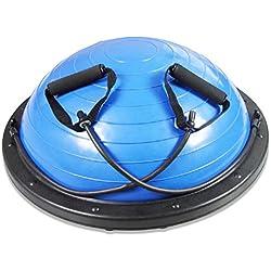 GJX@ MS. Fitness masculino bola equilibrio Yoga ball hemisferio bola velocidad bola de yoga , a