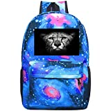 dsgsd Schultasche Jungle Beast Leopard Casual Large-Capacity Star Backpack Unisex Travel Bag Gray