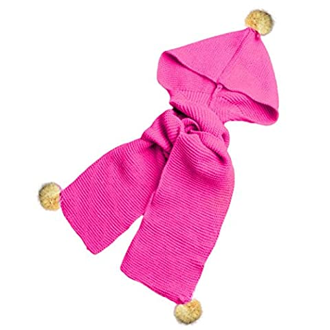 Hats&Scarf, Kingko® Autumn Winter Boys Girls Baby Scarf Cotton O Ring Neck Scarves (Hot Pink)