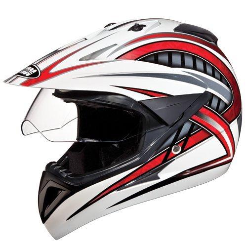 Studds Motocross D2 Helmet With Visor (White N2, L)