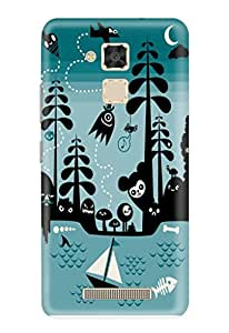 CareFone Printed Back Case For Asus Zenfone 3 Max