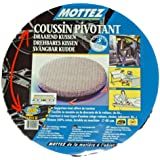 Mottez Coussin pivotant Gris 40 cm