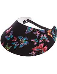 """XFORE visière soleil """"Greasby"""" casquette de golf sport tennis pour femmes, avec motif papillon, taille unique"""