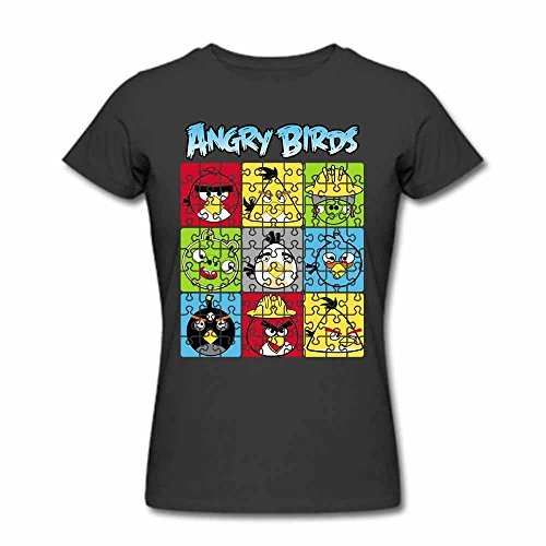 Puzzle Angry Birds Cotton T shirt Womens Tops XL
