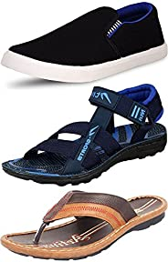 Ethics Perfect Combo Pack of 3 Casual Footwear for Men&#