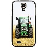 Grüner Traktor auf dem Feld Hartschalenhülle Telefonhülle zum Aufstecken für Samsung Galaxy S4 (i9500)