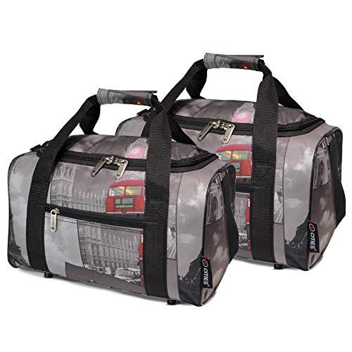 Ryanair 20L Maximal Größe des Handgepäck 40x25x20cm Bordgepäck Gepäck Tasche, 2X Städte
