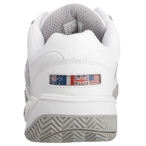 da 147 Swiss Silber LS Donna Weiss ACCOMPLISH tennis K 91805 M Bianco Scarpe 0pC4w