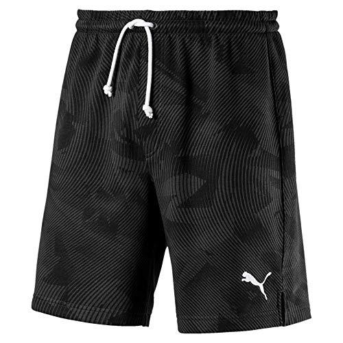 Sport Shorts (PUMA Herren Cup Casuals Short Jogginghose, Black-Whisper White, L)