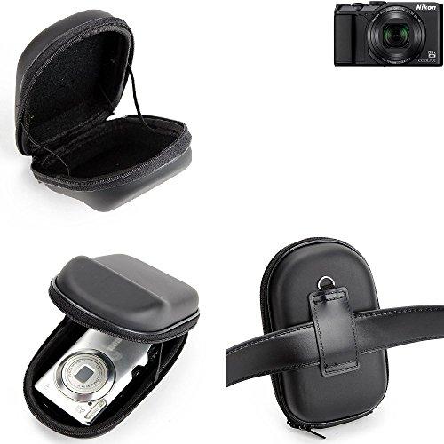K-S-Trade para Nikon Coolpix A900: Caso Duro, Estuche para cámara compacta, Bolsa/Funda rígida con Espacio para jaulas de Memoria, batería de Repuesto, Cargador de Jaula, etc. | Prueba del Choque