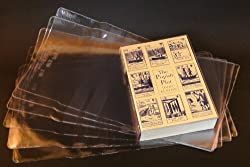 10x Clear Plastic Paperback Book Covers 210mm
