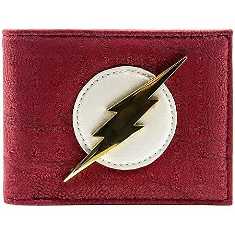 DC Comics Flash Glänzende Goldabzeichen Rot Portemonnaie Geldbörse (Zoom Film Kostüm)