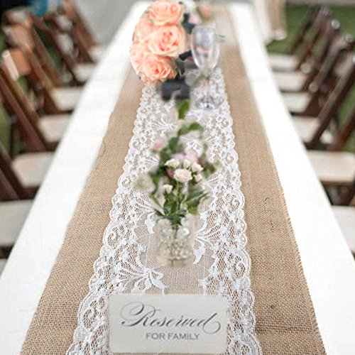 Windyeu Tischdecke Weiß und Grau Tischläufer Abwaschbares Tischtuch - Tischdecke Weiße Quadratische Leinen