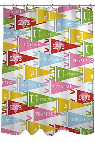 Price comparison product image Manual Woodworker Weavers Shower Curtain,  Team Me Banners