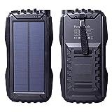 Friengood - Cargador Solar portátil de 25000 mAh,...