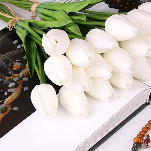 QYYDGH Retro Elegante schöne 21 Teile/los Hochzeitsdekoration Künstliche Blumen Pu Tulpe Bouquet Calla Real Touch Gefälschte Für Home Store Dekorationen G01-1