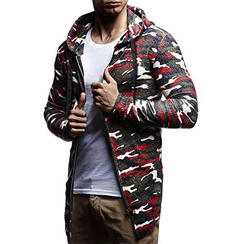Herren Herbst Hoodies Mann Junge Camouflage Strickjacke Mode Winter Casual Fit Langarm Hoodie Top Mäntel Mit Kapuze Jacke Moonuy