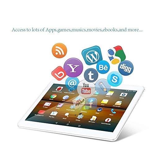 10-Zoll-Android-7.0-Tablet, 4 GB RAM, 64 GB RAM, Octa-Core, 4G-Smartphone, Dual-SIM-Kartensteckplatz, WLAN, GPS, Bluetooth 4.0, HD-IPS-Display (1920x1200) (pink)