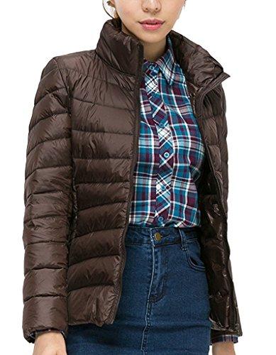 Damen Jacke Lightdaune Jacke Onltahoe Contrast Hooded Jacket Braun Gr.XXXL