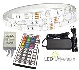 1 Meter RGB LED Streifen Set (30 LED/m, IP20) inkl. Controller, 44 Tasten Fernbedienung und 3 A Netzteil