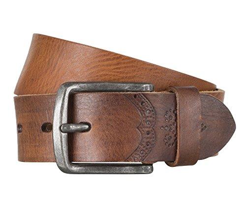 LLOYD Men's Belts Gürtel Herrengürtel Ledergürtel Vollrindleder Brandy 4317, Farbe:Braun, Länge:90