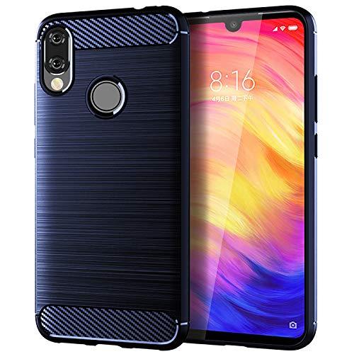 CiCiCat Funda Case Xiaomi Redmi Note 7, Slim Anti-Rasguño Anti-Golpes Bumper Suave Silicone TPU Back Protectora Carcasa Caso Cover Funda para Xiaomi Redmi Note 7 Smartphone. (6.3'', Azul)