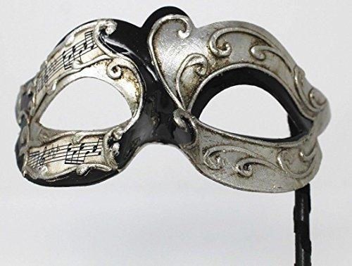 Unbekannt Schwarz und Silber Musikalische Noten Venezianische Maskerade Partei Karneval Maske auf Einem ()