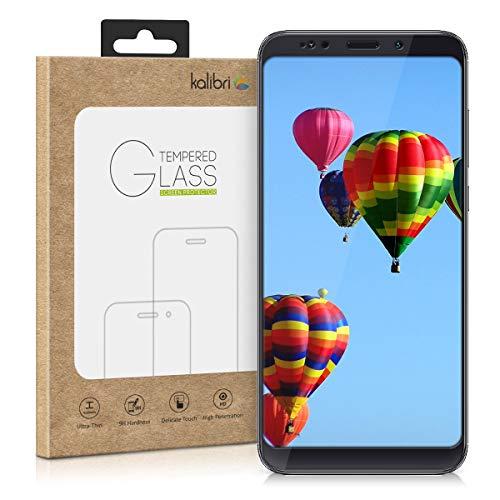 kalibri Echtglas Displayschutzfolie für Xiaomi Redmi Note 5 (Global Version) / Note 5 Pro - 0,2 mm Glas mit 9H Härtegrad Schutzfolie Panzerglas Schutzglas Glasfolie in kristallklar