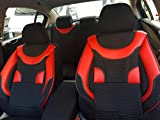 Sitzbezüge k-maniac | Universal schwarz-rot | Autositzbezüge Set Komplett | Autozubehör Innenraum | Auto Zubehör für Frauen und Männer | NO1726418 | Kfz Tuning | Sitzbezug | Sitzschoner
