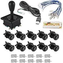 XCSOURCE® Zero Delay HAPP Estilo Arcade Juego USB Encoder PC Joystick botón 2/4/8 Way Kit DIY ajustable para Mame Jamma Machine Gaming AC702