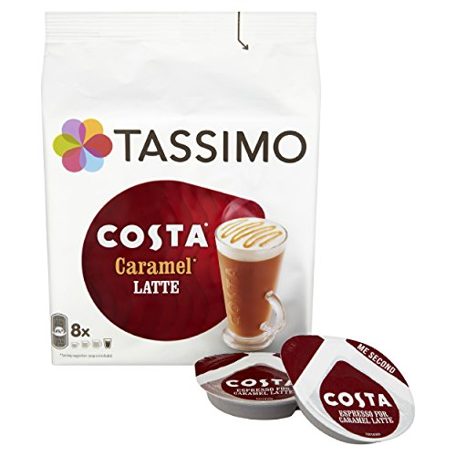 Purchase Tassimo Costa Caramel Latte Coffee Pods (Pack of 5, Total 80 pods, 40 servings) - Mondelez
