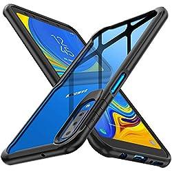 ORETECH Coque Samsung Galaxy A7 2018,Coque Galaxy A7 Transparente Housse Hybride Robuste Antichoc [Coussin d'air] Ultra Mince Mat Anti-Rayures Dur PC+TPU Samsung A7 Etui-Noir
