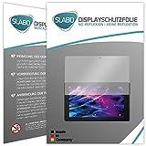 Slabo 2 x Bildschirmschutzfolie Medion Lifetab P10356 (MD 99632) Bildschirmschutz Schutzfolie Folie No Reflexion|Keine Reflektion MATT - Entspiegelnd Made IN Germany