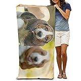DIMANNU Badetuch Dackel Hunde Gemusterte Weiche Strandtuch 78,7x 129,5cm Handtuch mit Einzigartiges Design