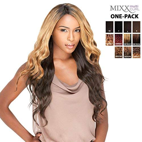 [4 Wefts Complete Set] Sensationnel Too Bundle Mixx - BRAZILIAN - Human Hair Blend Weave (One Pack Complete) (DX2730)