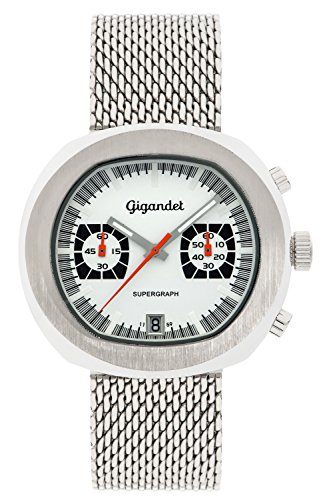 Gigandet Supergraph Men's Quartz Watch Chronograph Analogue Date Silver G11-001