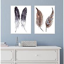 Flanacom Design Poster Hochglanzdruck 2er Set A3 Skandinavisch   Kunstdruck  Edel Premiumpapier Deko Wohnung 27x42cm