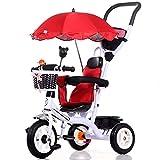 Bicicletas YANFEI 4 en 1 Smart Kids Triciclo 3 Ruedas Posición Múltiple Niños Paseo del bebé en Trike Triciclo Regalo para Niños (Color : White1)