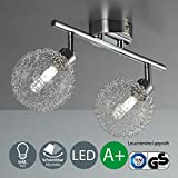 Lámpara de techo con 2 bolas de cristal I Foco LED I